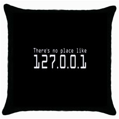 There s No Place Like Number Sign Throw Pillow Case (black) by Alisyart