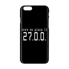 There s No Place Like Number Sign Apple Iphone 6/6s Black Enamel Case by Alisyart