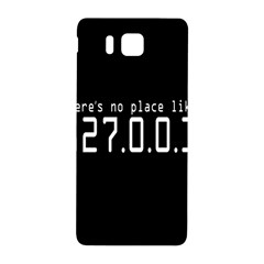 There s No Place Like Number Sign Samsung Galaxy Alpha Hardshell Back Case by Alisyart