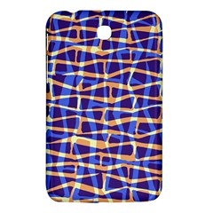 Surface Pattern Net Chevron Brown Blue Plaid Samsung Galaxy Tab 3 (7 ) P3200 Hardshell Case  by Alisyart