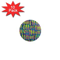 Surface Pattern Green 1  Mini Magnet (10 Pack)  by Alisyart