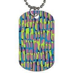 Surface Pattern Green Dog Tag (one Side) by Alisyart