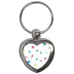 Umbrella Green Orange Red Blue Pink Water Rain Key Chains (heart)  by Alisyart