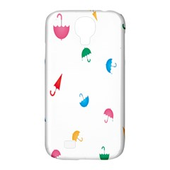 Umbrella Green Orange Red Blue Pink Water Rain Samsung Galaxy S4 Classic Hardshell Case (pc+silicone)
