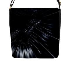 Fractal Mathematics Abstract Flap Messenger Bag (l)  by Amaryn4rt