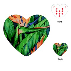 Flowers Art Beautiful Playing Cards (heart)  by Amaryn4rt