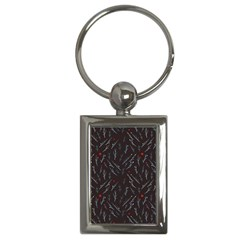 Tree Twigs Spot Blue Grey Key Chains (rectangle)  by Alisyart