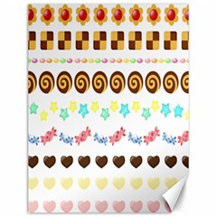 Sunflower Plaid Candy Star Cocolate Love Heart Canvas 12  X 16