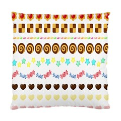 Sunflower Plaid Candy Star Cocolate Love Heart Standard Cushion Case (one Side)