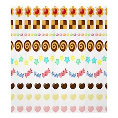 Sunflower Plaid Candy Star Cocolate Love Heart Shower Curtain 66  X 72  (large)  by Alisyart