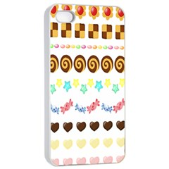 Sunflower Plaid Candy Star Cocolate Love Heart Apple Iphone 4/4s Seamless Case (white) by Alisyart