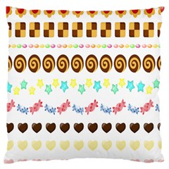 Sunflower Plaid Candy Star Cocolate Love Heart Large Cushion Case (two Sides)