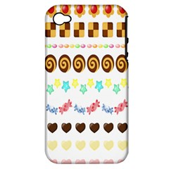 Sunflower Plaid Candy Star Cocolate Love Heart Apple Iphone 4/4s Hardshell Case (pc+silicone)