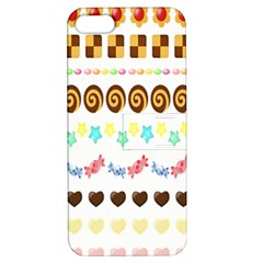 Sunflower Plaid Candy Star Cocolate Love Heart Apple Iphone 5 Hardshell Case With Stand