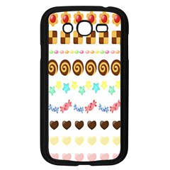 Sunflower Plaid Candy Star Cocolate Love Heart Samsung Galaxy Grand Duos I9082 Case (black)