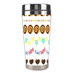 Sunflower Plaid Candy Star Cocolate Love Heart Stainless Steel Travel Tumblers by Alisyart