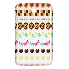 Sunflower Plaid Candy Star Cocolate Love Heart Samsung Galaxy Tab 3 (7 ) P3200 Hardshell Case  by Alisyart