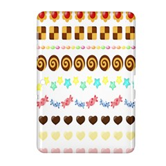 Sunflower Plaid Candy Star Cocolate Love Heart Samsung Galaxy Tab 2 (10 1 ) P5100 Hardshell Case