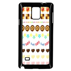 Sunflower Plaid Candy Star Cocolate Love Heart Samsung Galaxy Note 4 Case (black)