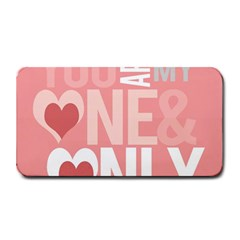 Valentines Day One Only Pink Heart Medium Bar Mats by Alisyart