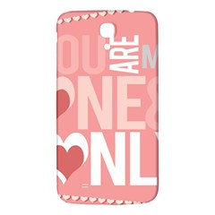 Valentines Day One Only Pink Heart Samsung Galaxy Mega I9200 Hardshell Back Case