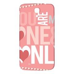 Valentines Day One Only Pink Heart Samsung Galaxy Mega I9200 Hardshell Back Case