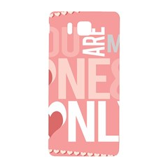 Valentines Day One Only Pink Heart Samsung Galaxy Alpha Hardshell Back Case