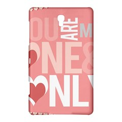 Valentines Day One Only Pink Heart Samsung Galaxy Tab S (8 4 ) Hardshell Case  by Alisyart