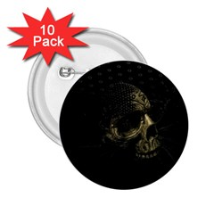 Skull Fantasy Dark Surreal 2 25  Buttons (10 Pack)  by Amaryn4rt
