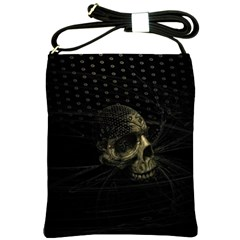 Skull Fantasy Dark Surreal Shoulder Sling Bags by Amaryn4rt