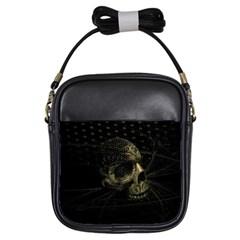 Skull Fantasy Dark Surreal Girls Sling Bags by Amaryn4rt