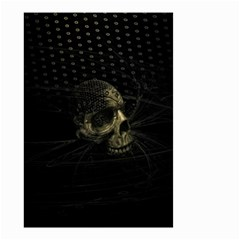 Skull Fantasy Dark Surreal Small Garden Flag (two Sides) by Amaryn4rt