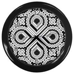 Pattern Tile Seamless Design Wall Clocks (black) by Amaryn4rt