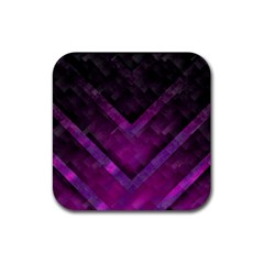 Purple Background Wallpaper Motif Design Rubber Square Coaster (4 Pack)  by Amaryn4rt