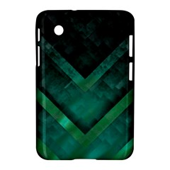 Green Background Wallpaper Motif Design Samsung Galaxy Tab 2 (7 ) P3100 Hardshell Case  by Amaryn4rt