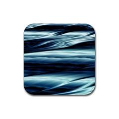 Texture Fractal Frax Hd Mathematics Rubber Square Coaster (4 Pack)