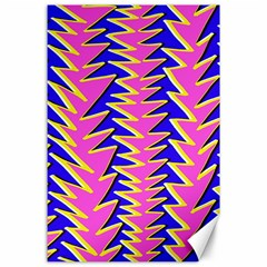 Triangle Pink Blue Canvas 24  X 36  by Alisyart
