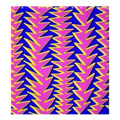 Triangle Pink Blue Shower Curtain 66  X 72  (large)  by Alisyart