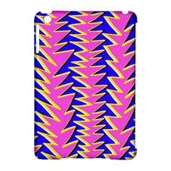 Triangle Pink Blue Apple Ipad Mini Hardshell Case (compatible With Smart Cover) by Alisyart