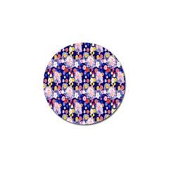 Season Flower Arrangements Purple Golf Ball Marker by Alisyart