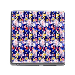 Season Flower Arrangements Purple Memory Card Reader (square) by Alisyart