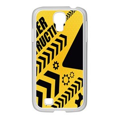 Under Construction Line Maintenen Progres Yellow Sign Samsung Galaxy S4 I9500/ I9505 Case (white) by Alisyart