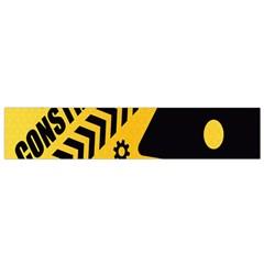 Under Construction Line Maintenen Progres Yellow Sign Flano Scarf (small) by Alisyart