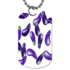 Vegetables Eggplant Purple Dog Tag (two Sides) by Alisyart