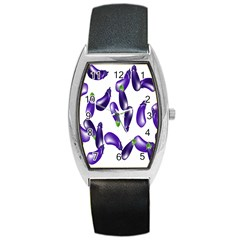 Vegetables Eggplant Purple Barrel Style Metal Watch by Alisyart