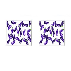 Vegetables Eggplant Purple Cufflinks (square) by Alisyart