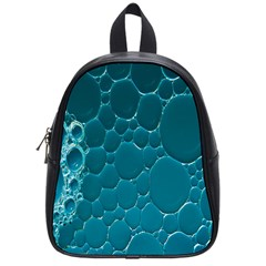 Water Bubble Blue School Bags (small)  by Alisyart