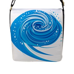 Water Round Blue Flap Messenger Bag (l)  by Alisyart