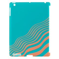 Water Waves Blue Orange Apple Ipad 3/4 Hardshell Case (compatible With Smart Cover) by Alisyart