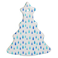 Water Rain Blue Ornament (christmas Tree)  by Alisyart